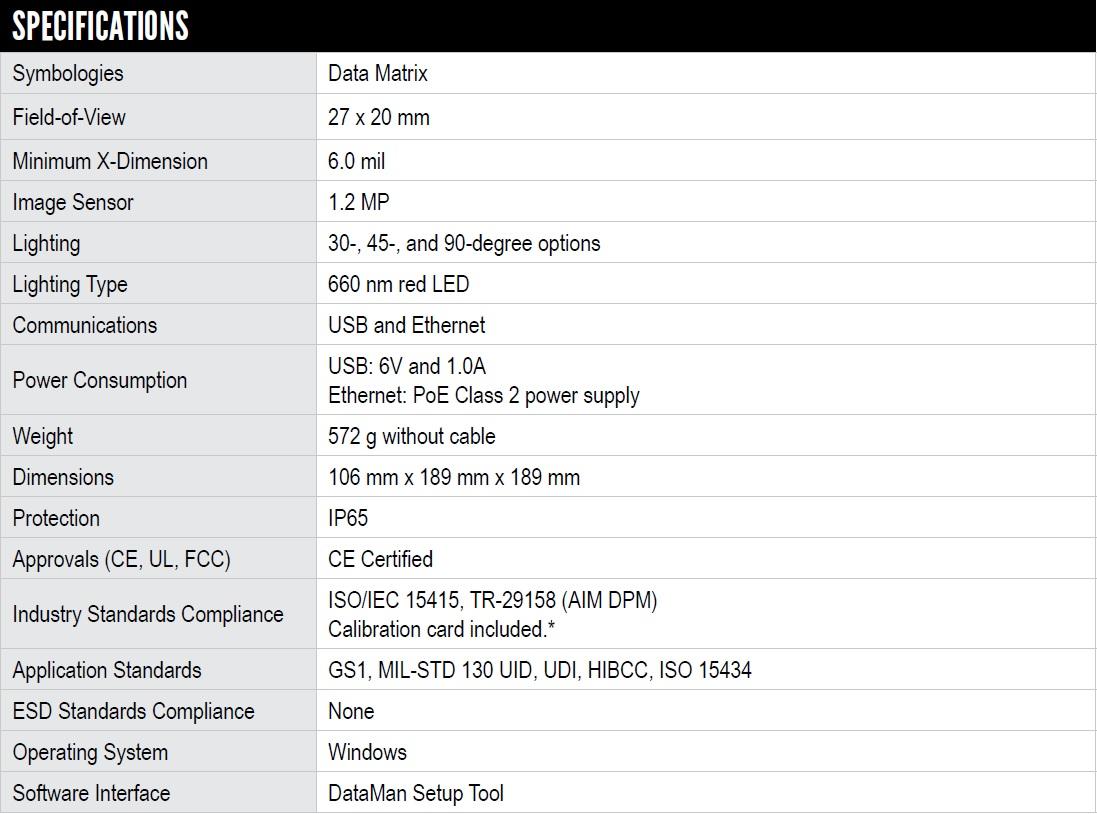 DataMan 8070 eyetech specs